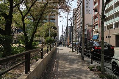 四ツ橋駅からの経路