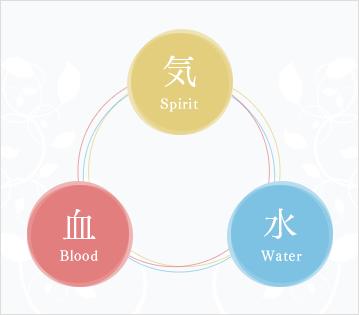 3つの要素を循環させ、身体の促進を高めます